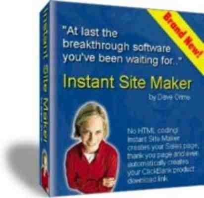 Product picture NEW*Instant Site Maker -With Resell Rights