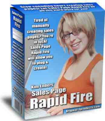 Product picture Sales Page Rapid Fire - Master Resell Rights